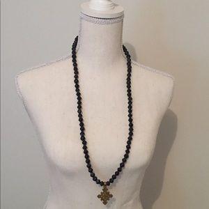 BOGO Black beaded Akola necklace
